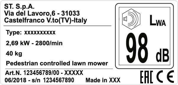 Etichetta prodotto